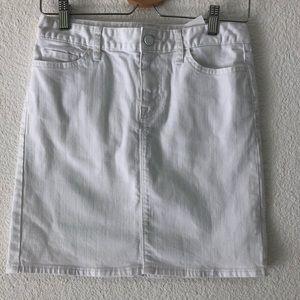 Tommy Hilfiger white denim high rise skirt